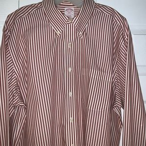 Brooks Brothers Red and White Striped Button Down